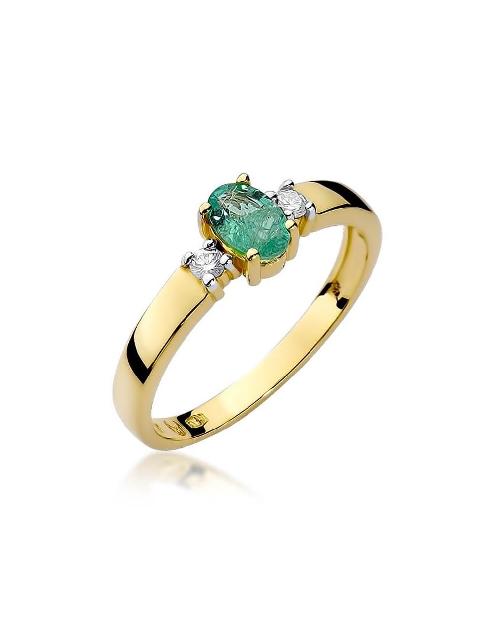 pierścionek zaręczynowy szmaragd